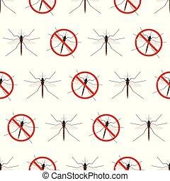 Anti mosquito seamless pattern