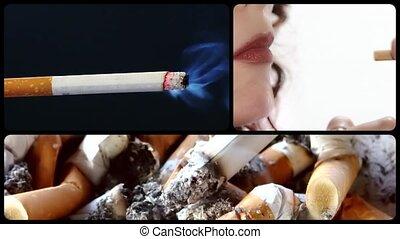 Anti-smoking clip - Danger of smoking