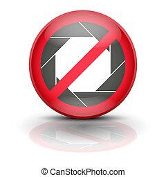 Anti spyware icon symbol vector illustration - Sign ban...