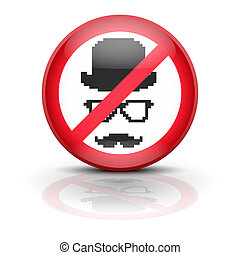 Anti spyware icon symbol vector illustration - Symbol...