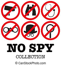 Anti-spyware icon Vector illustration - Collection of signs...