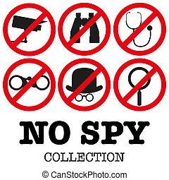 anti-spyware, vector, ilustración, icono