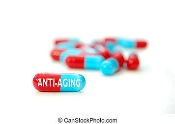 anti-vieillissement, pilule