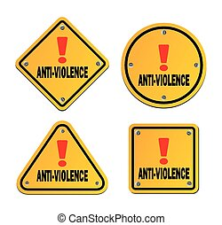 anti-violence signs