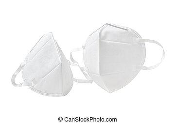 anti-virus, fond blanc, masque