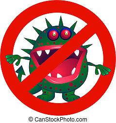 Anti virus symbol