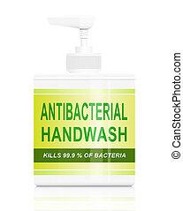 Antibacterial hand wash. - Illustration depicting an...