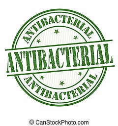 Antibacterial sign or stamp - Antibacterial grunge rubber...