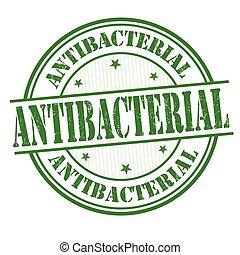 Antibacterial sign or stamp - Antibacterial grunge rubber...