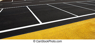 Antibes #182 - A newly painted parking lot.  Copy space.