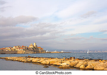 Antibes #84 - A town overlooking the sea in Antibes, France....