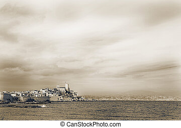 Antibes #92 - A town overlooking the sea in Antibes, France....
