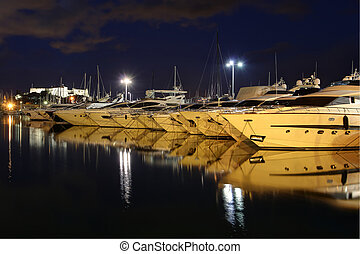 Antibes Harbor.South of France.