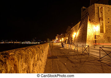 Antibes Ramparts. South of France - Antibes ramparts and...
