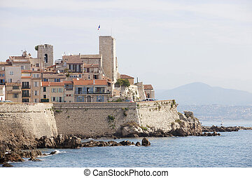 Antibes - Old fortified town of Antibes on the french...