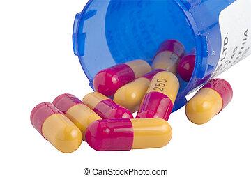 antibiótico, cápsulas