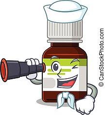 Antibiotic Bottle 71 - A cartoon picture of antibiotic ...