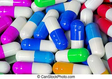 antibiotic capsule - pattern of antibiotic capsule close up...