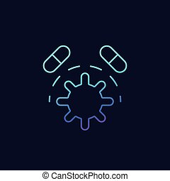 antibiotic resistance vector icon, eps 10 file, easy to edit