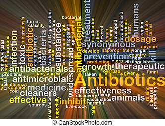 Antibiotics background concept glowing