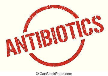 antibiotics stamp - antibiotics red round stamp