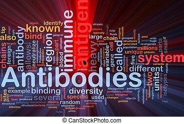 Antibodies immunity background concept glowing - Background...