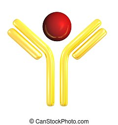 antibody with antigen - golden antibody symbol with antigen...