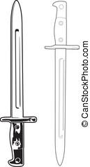 anticaglia, baionetta