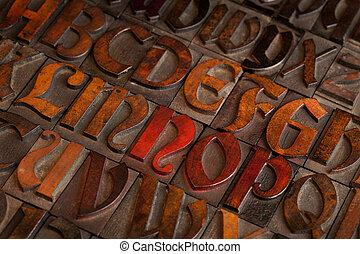 anticaglia, blocchi, letterpress, stampa