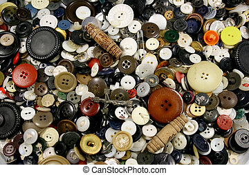 anticaglia, bottoni, fondo