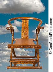 anticaglia, cinese, piegatura, chair.
