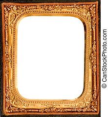 anticaglia, daguerreotype, metallo, cornice