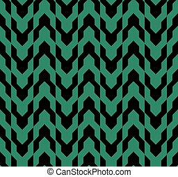 anticaglia, fondo, geometria, seamless, verde, freccia
