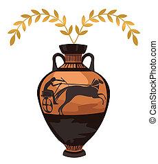 anticaglia, greco, vaso