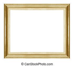 anticaglia, immagine, cornice, oro