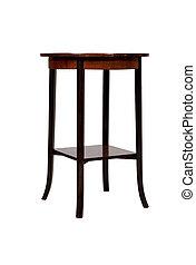 anticaglia, legno, isolato, fondo, tavola, bianco, rotondo