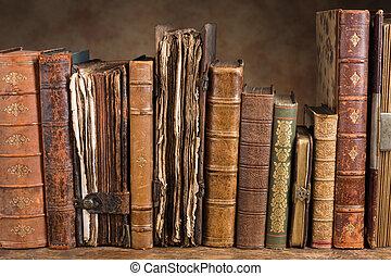 anticaglia, libri, fila