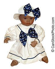 anticaglia, nero, bambola