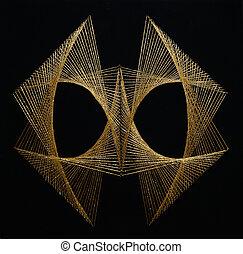 anticaglia, oro, filo, disegno