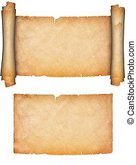 anticaglia, paper., vecchio, rotolo