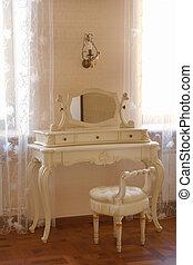 anticaglia, tavola veste, con, specchio