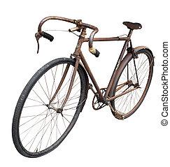 anticaglia, uomo, bicicletta