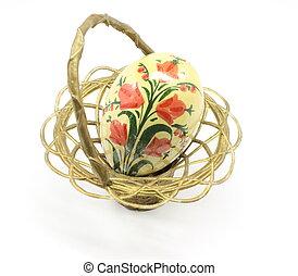 anticaglia, uovo di pasqua, e, cesto