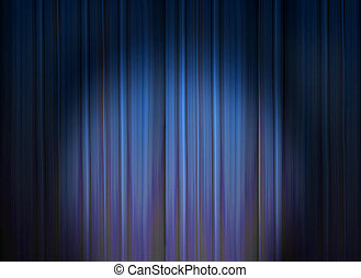 Anticipation - A spotlight on unopened stage curtains