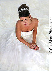 Anticipation of Marriage - Beautiful Bride Sitting on Her ...