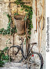 antický, jezdit na kole