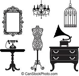 antický, nábytek