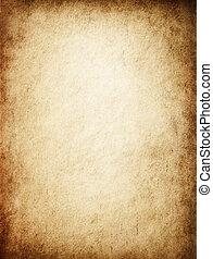 antický, nažloutlý, pergamen