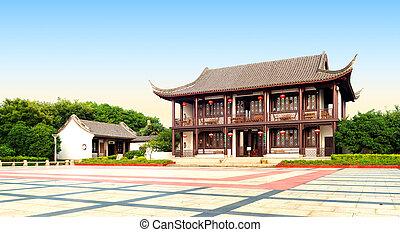 antico, architettura, cinese