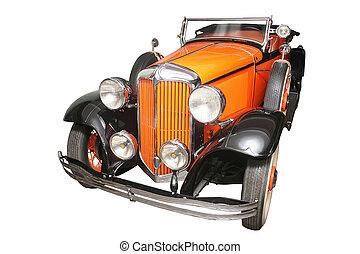 antico, automobile, isolato